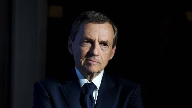 Media group Altice France head Alain Weill attends the inauguration of the Altice Campus in Paris on October 9, 2018. (Photo by ERIC PIERMONT / AFP)